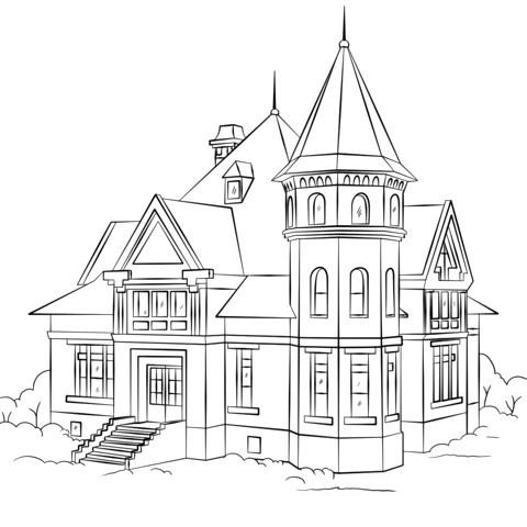 Haus Mit Garten Ausmalbild Einzigartig Victorian House Ausmalbild Ausmalbilder Pinterest Ausmalen Avec Sammlung