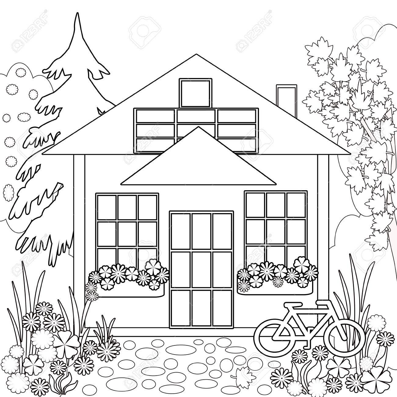 Haus Mit Garten Ausmalbild Neu Ausmalbilder Ben Und Holly Genial Christmas Coloring Pages Uk Frisch Galerie