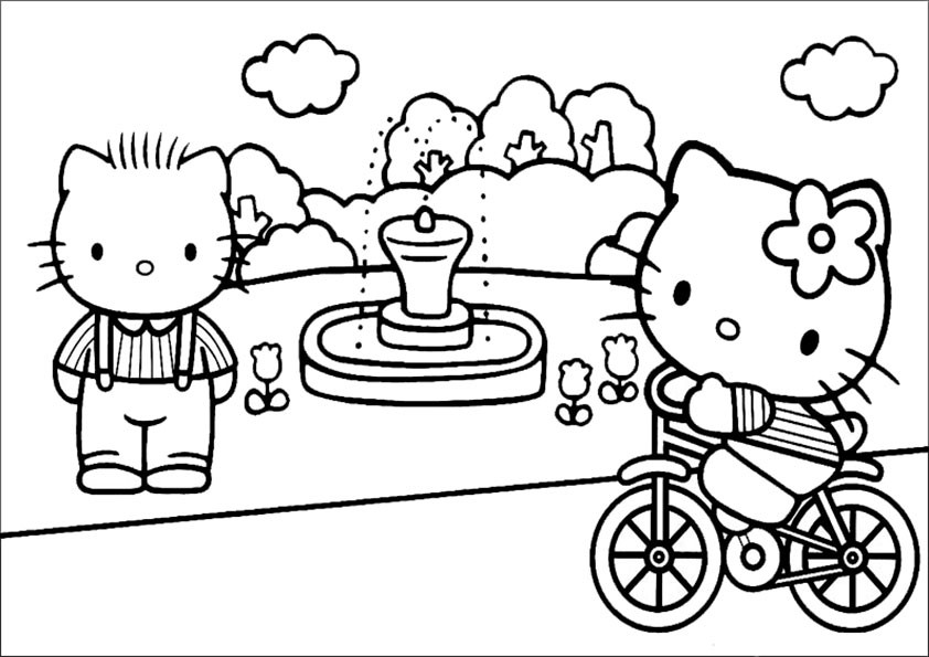 Hello Kitty Malvorlage Frisch Hello Kitty Ausmalbild Az Ausmalbilder Stock