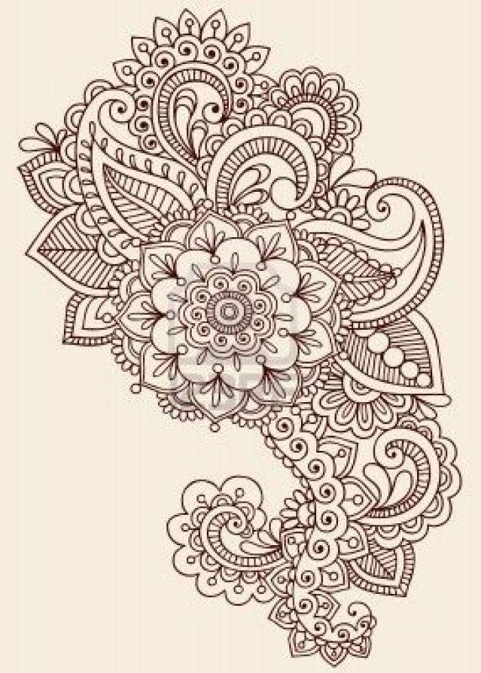 Henna Vorlagen Zum Ausdrucken Inspirierend Henna Paisley Flowers Mehndi Tattoo Doodles Design Abstract Floral Das Bild