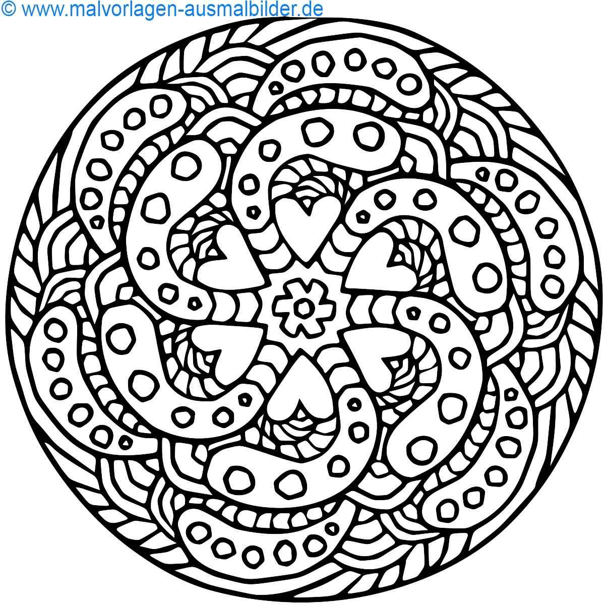 Herz Bilder Zum Ausmalen Frisch Herz Malvorlagen Einfach Herz Mandalas Zum Ausdrucken – Malvorlagen Bild