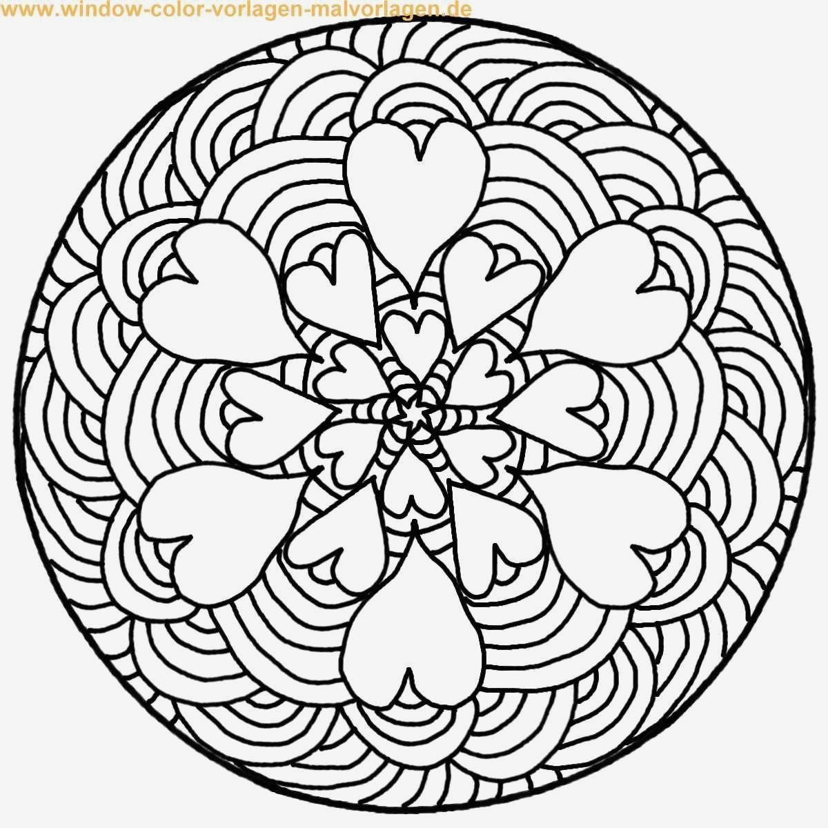 Herz Mandalas Zum Ausmalen Einzigartig Spannende Coloring Bilder Malvorlagen Mandalas Für Erwachsene Bild