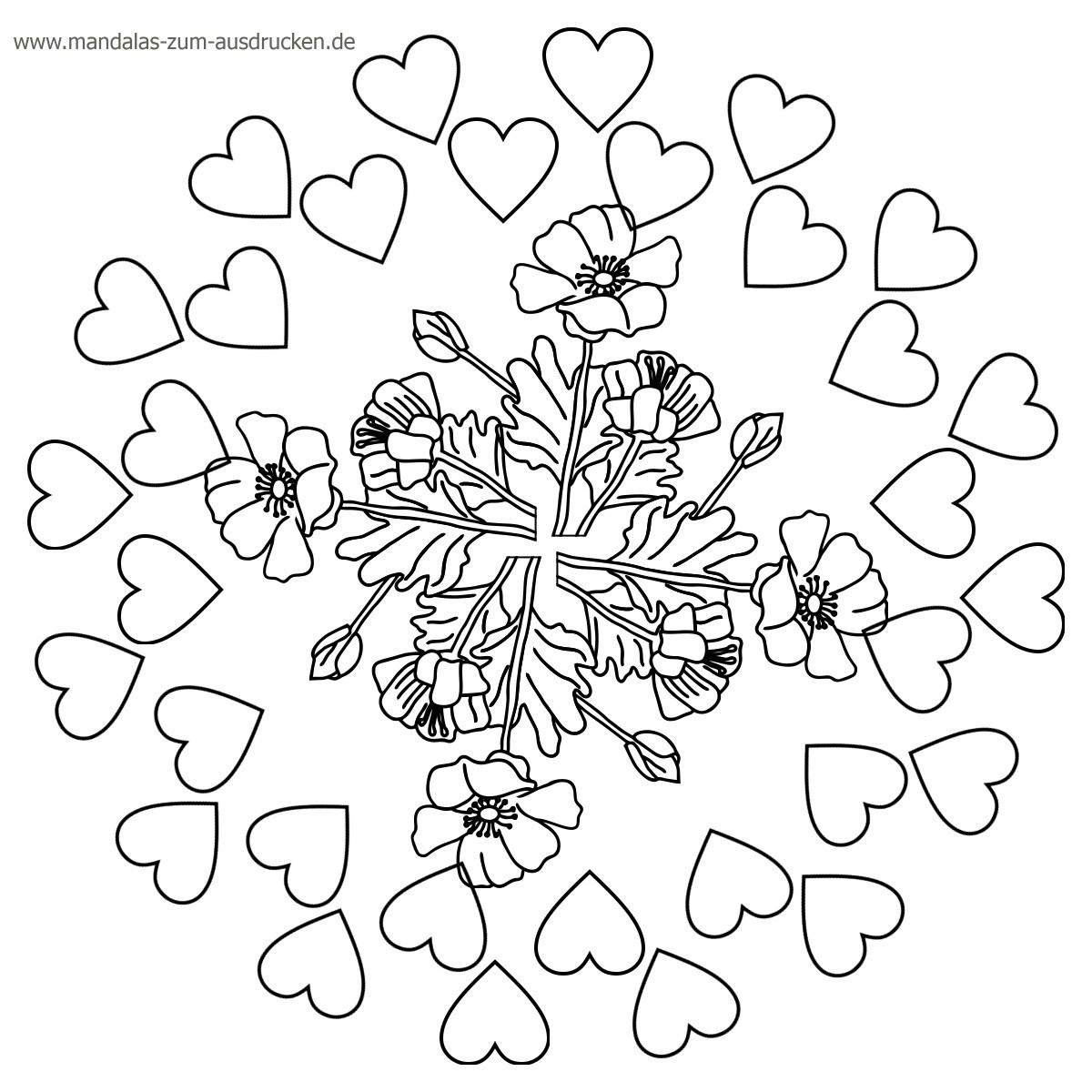 Herz Mandalas Zum Ausmalen Frisch Druckbare Malvorlage Ausmalbilder Mandala Beste Druckbare Das Bild