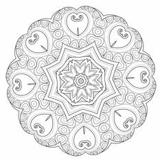 Herz Mandalas Zum Ausmalen Genial 13 Besten Mandala Zum Ausmalen Bilder Auf Pinterest Sammlung