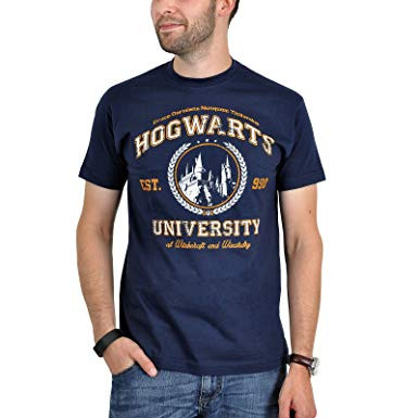 Hogwarts Wappen Zum Ausdrucken Genial Magic University T Shirt Hogwarts Fun Shirt Zu Harry Potter Navy Bild