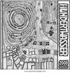 Hundertwasser Bilder Zum Ausmalen Einzigartig Die 76 Besten Bilder Von Hundertwasser Sammlung