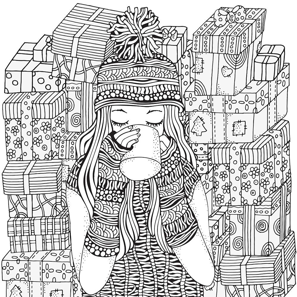 Hundertwasser Bilder Zum Ausmalen Inspirierend Hipster Christmas Coloring Pages Bilder