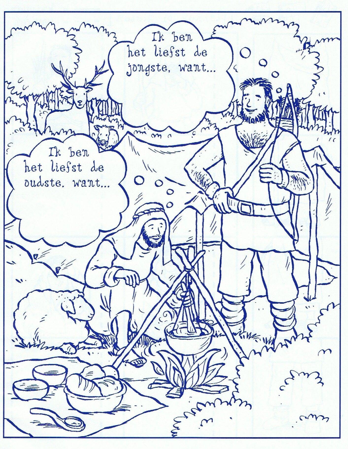 Jakob Und Esau Ausmalbilder Inspirierend Jakob Und Esau Ausmalbilder Best Jacob En Ezau Sunday School Ot Bilder