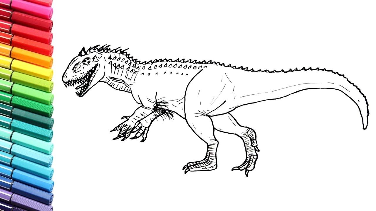 Jurassic Park Ausmalbilder Genial Ausmalbilder Jurassic World Für Kinder Genial Spinosaurus Fotos