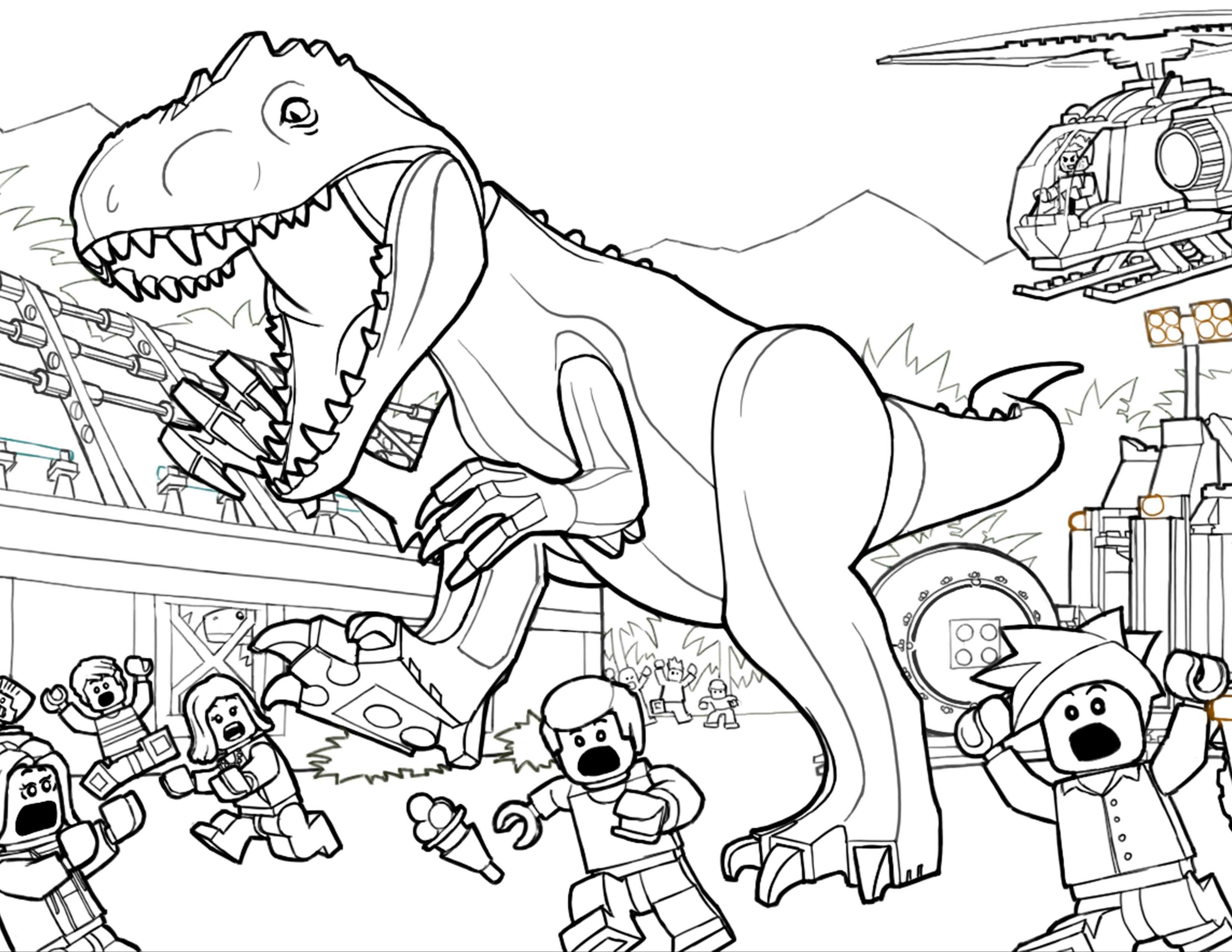 Jurassic World Ausmalbilder Genial Jurassic World Coloring Pages Printable Luxury T Rex Ausmalbild Sammlung