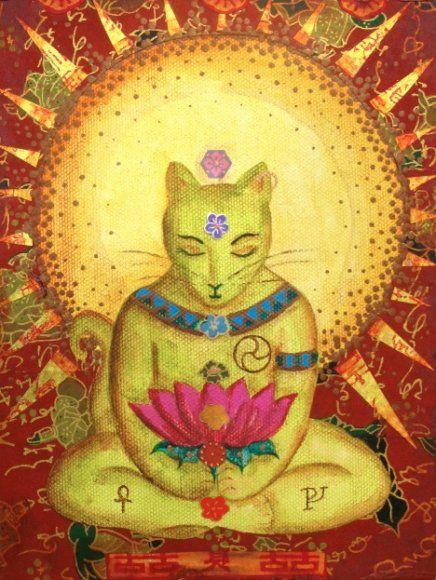 Katzenbilder Zum Ausdrucken Inspirierend Red Buddha Cat Art Pinterest Stock