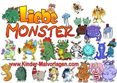 Kinder Malvorlagen Com Frisch 11 Besten Liebe Monster Bilder Auf Pinterest Bild