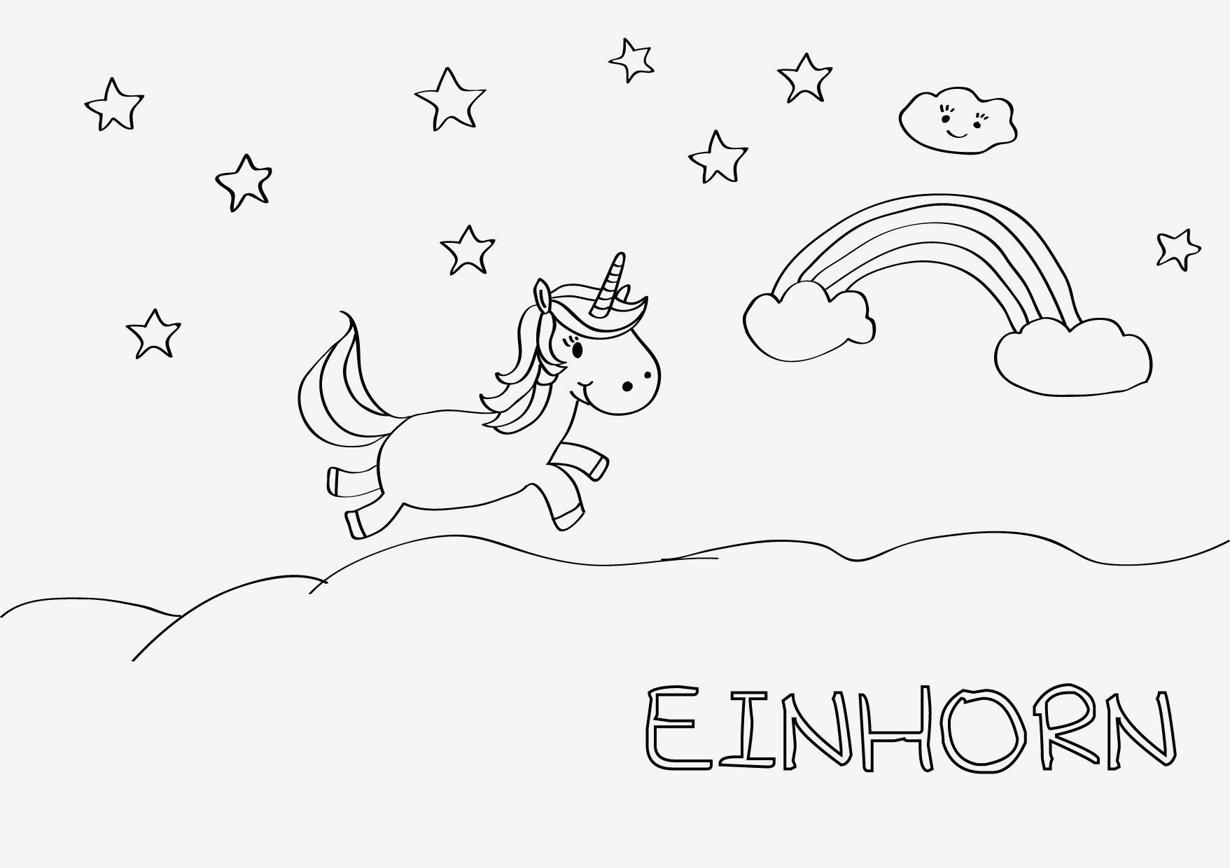 Kinder Malvorlagen Com Inspirierend Einhorn Malvorlage Kinder Lernspiele Färbung Bilder Ausmalbilder Für Bilder