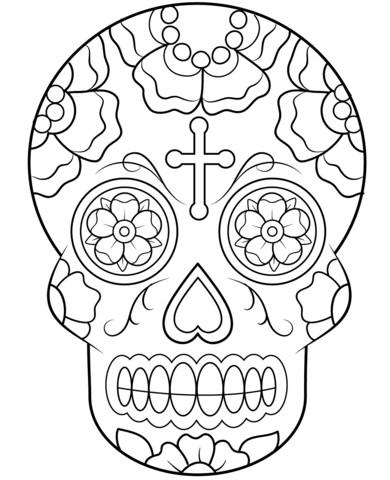Kreuz Zum Ausmalen Das Beste Von Malvorlagen Coloringpages Kreuz Tagdertoten Skull totenkopf Stock