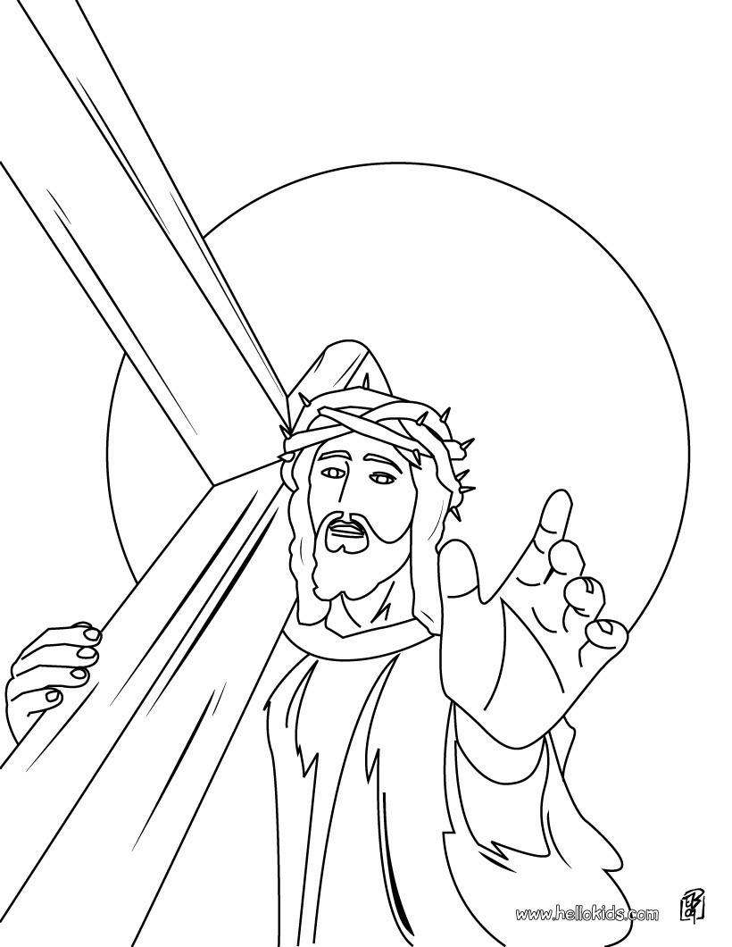 Kreuz Zum Ausmalen Frisch Jesus Trägt Das Kreuz Zum Ausmalen Zum Ausmalen De Hellokids Frisch Sammlung