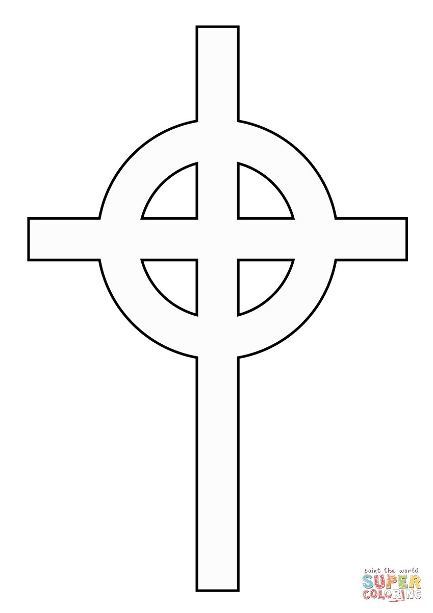 Kreuz Zum Ausmalen Inspirierend Ausmalbild Einfaches Keltisches Kreuz Luxus Ausmalbilder Kreuz Bilder