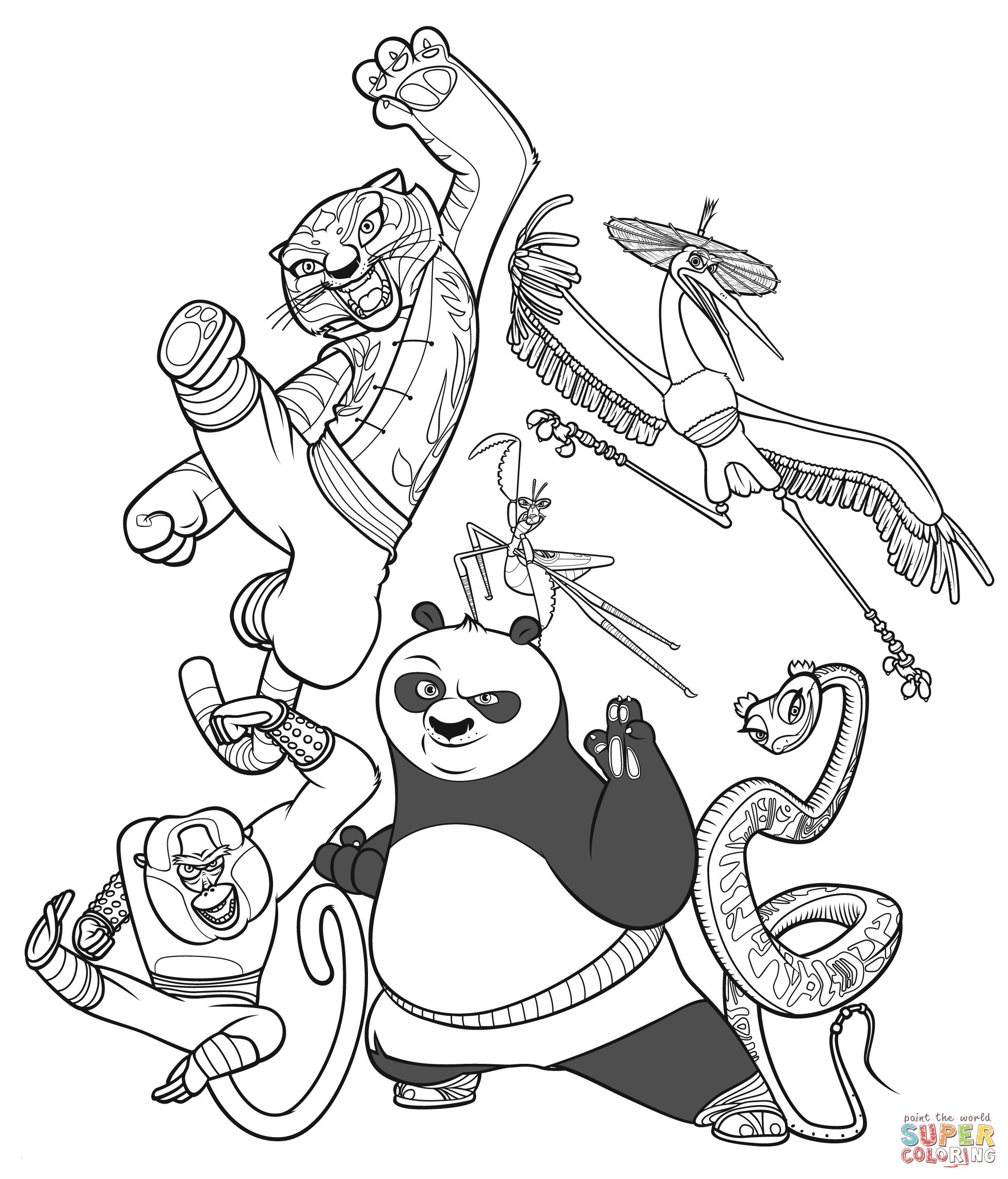 Kung Fu Panda Ausmalbilder Inspirierend 28 Collection Kung Fu Panda Coloring Pages Free Printable Best Fotos