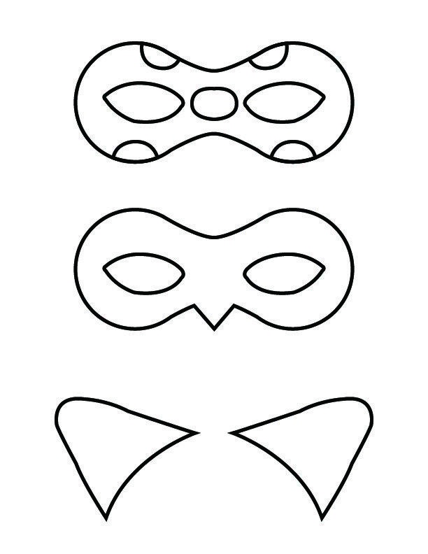 Ladybug Maske Zum Ausdrucken Genial Diy Miraculous Tales Of Ladybug and Cat Noir Masks Das Bild