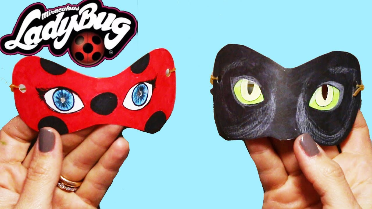 Ladybug Maske Zum Ausdrucken Genial How to Make Miraculous Ladybug and Cat Noir Mask Sammlung
