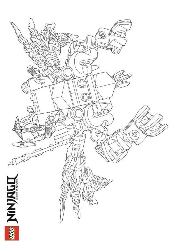 Lego Ninjago Zum Ausmalen Frisch Kids N Fun Bild