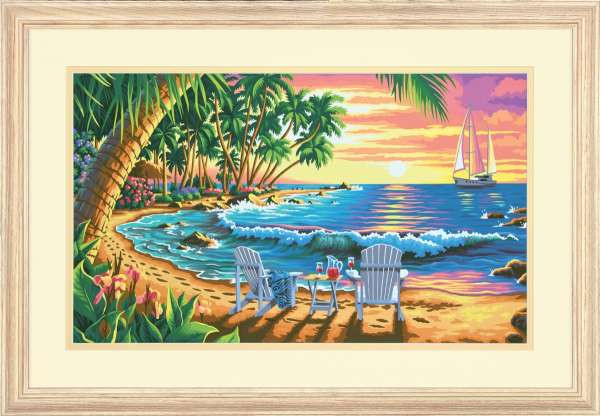 Malen Nach Zahlen 1-10 Genial sonniger Strand Malen Nach Zahlen Dimensions Das Bild