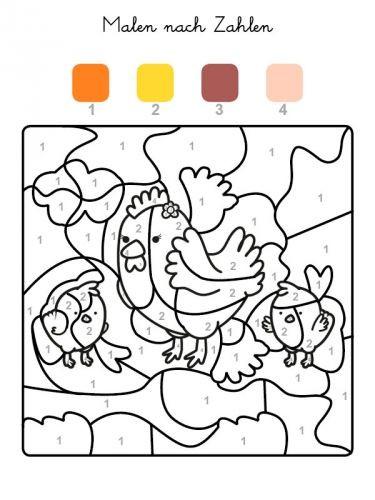 Malen Nach Zahlen Vorlagen Kostenlos Ausdrucken Inspirierend Kostenlose Malvorlage Malen Nach Zahlen Hühner Ausmalen Zum Bild