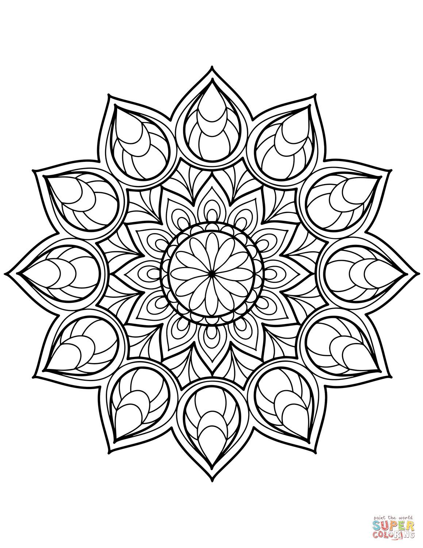Malvorlage Blumen ornamente Frisch Ausmalbild Blumen Mandala Einzigartig Ausmalbilder sommer Mandala Fotografieren
