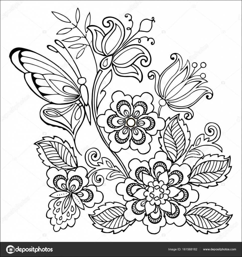 Malvorlage Blumen ornamente Frisch Blumenmotive Zum Ausdrucken Gemälde Audi Ausmalbilder Schön 1970 Bild