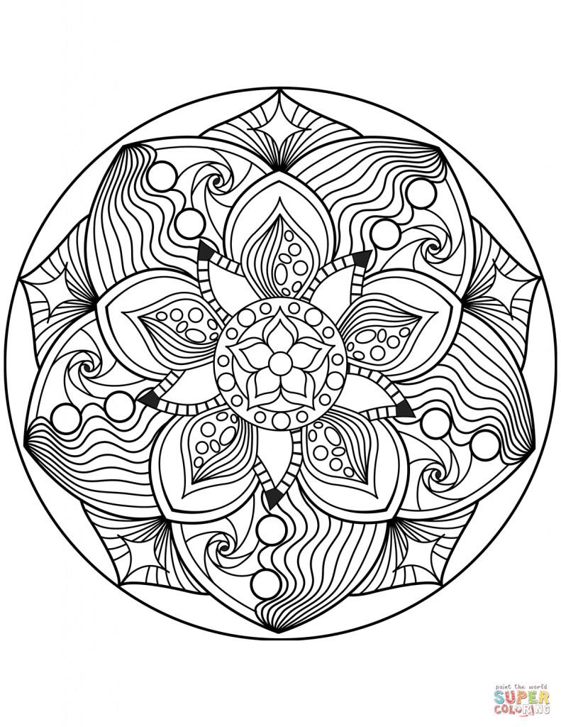 Malvorlage Blumen ornamente Frisch Druckbare Malvorlage Ausmalbilder Mandala Beste Druckbare Galerie