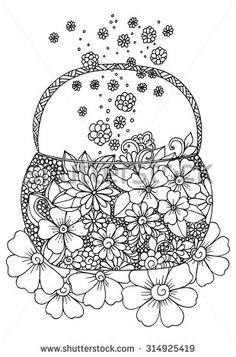 Malvorlage Blumen ornamente Inspirierend 105 Besten Malvorlagen Bilder Auf Pinterest Bild