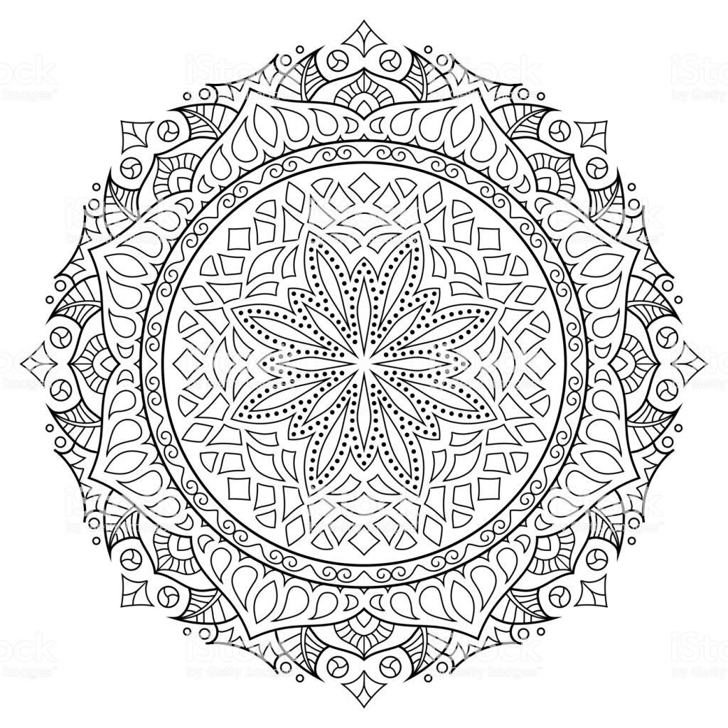 Malvorlage Blumen ornamente Inspirierend isolierte Floral Mandala Vektor Stil Des Ostens ornament Buch Bild