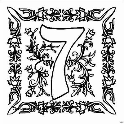 Malvorlage Blumen ornamente Neu ornament Malblatt Malvorlagen Zahlen Frisch Zahl 7 Mit ornamenten Galerie