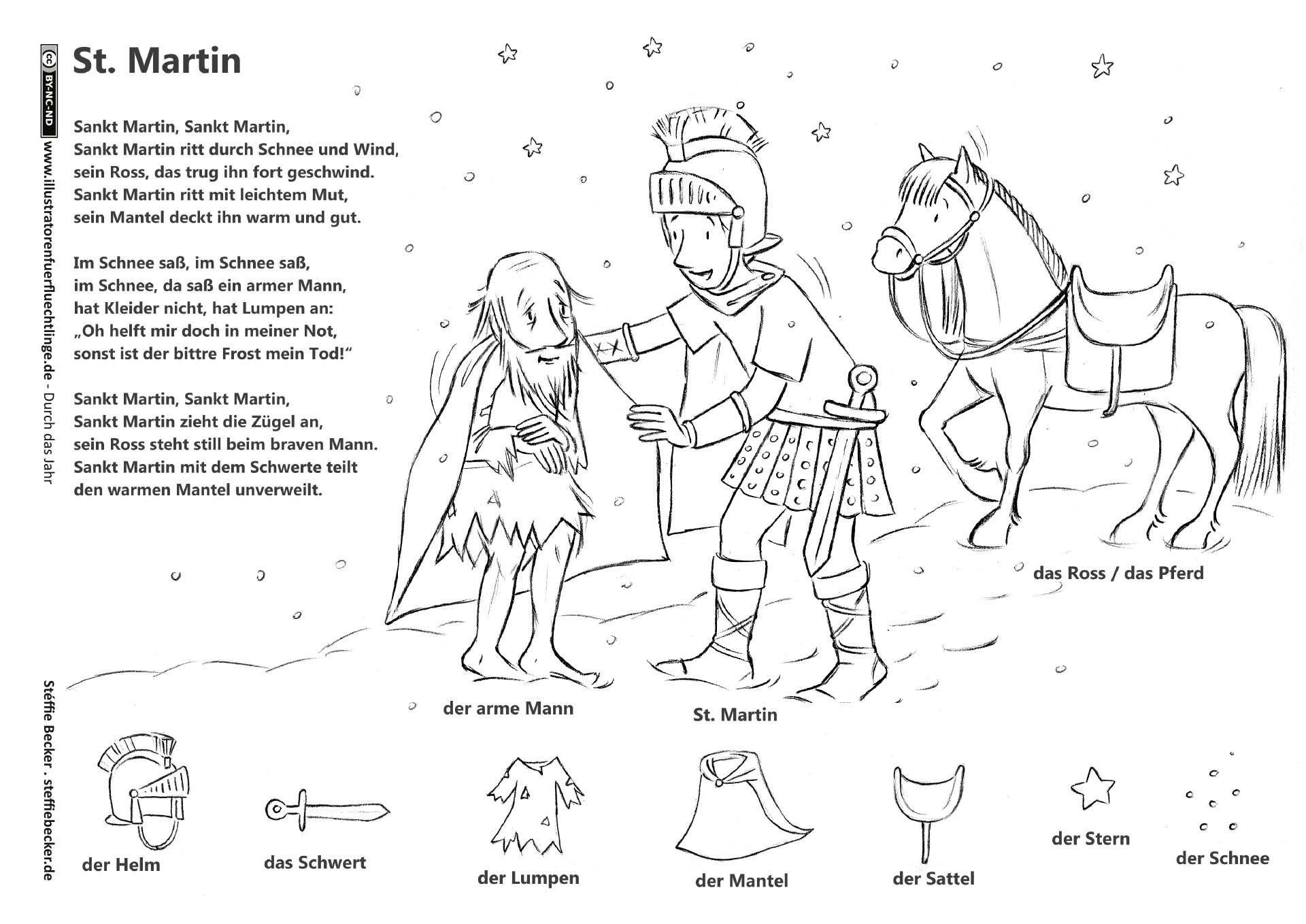 Malvorlage St Martin Genial Download Als Pdf Durch Das Jahr – Sankt Martin Legende Lied Genial Bild