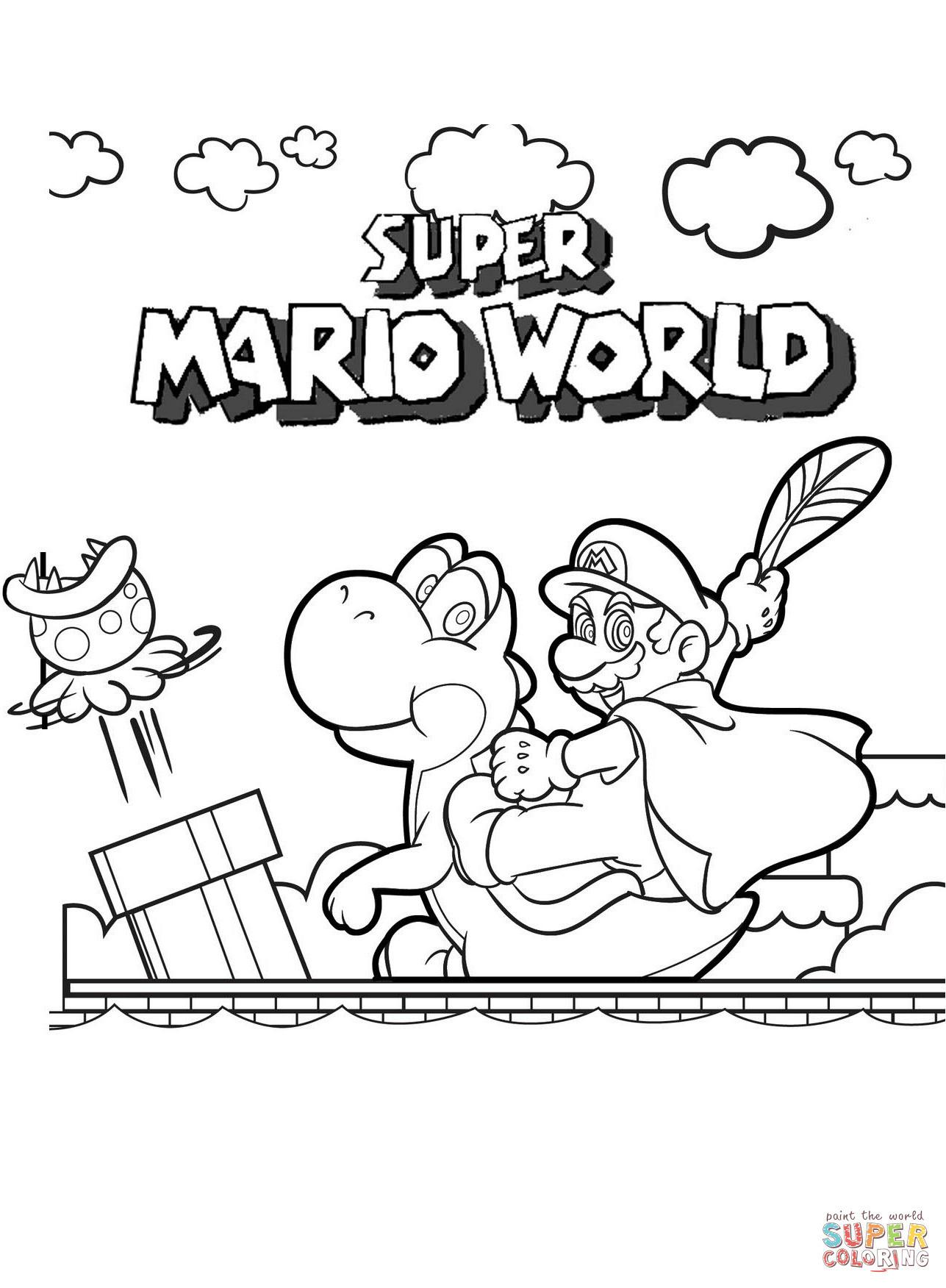 Malvorlage Super Mario Einzigartig Ausmalbild Super Mario World Frisch Ausmalbilder Super Mario 3d Galerie