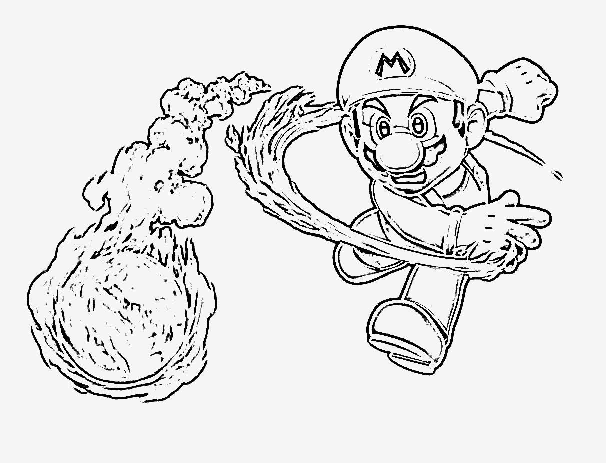 Spannende Coloring Bilder Super Mario Malvorlagen