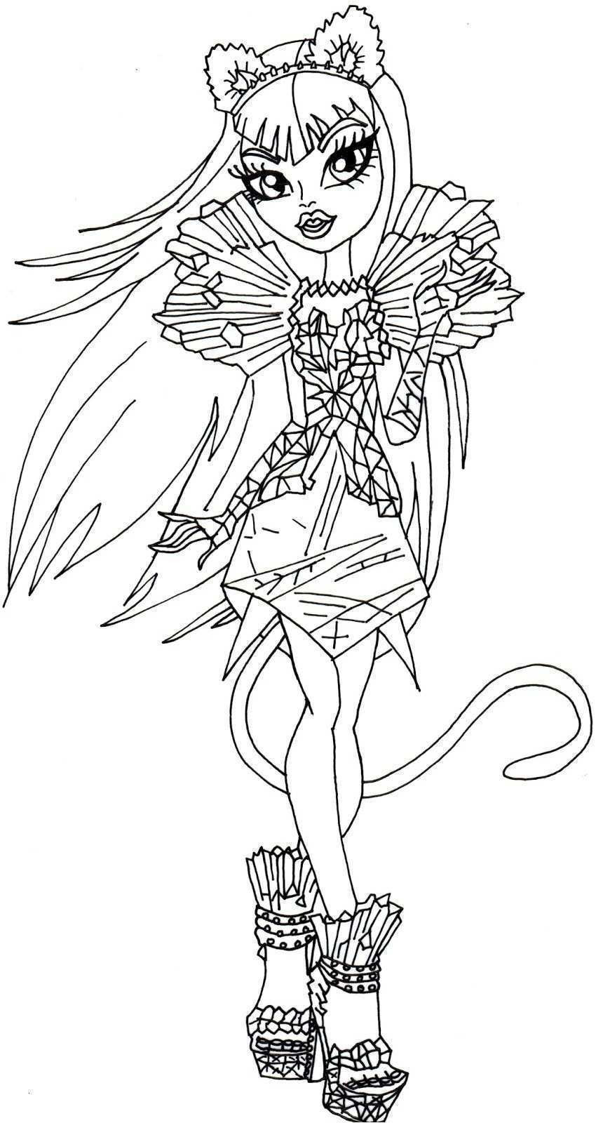 Malvorlagen Monster High Frisch Coloriage Monster High Catty Noir Frais 35 Ausmalbilder Monster High Das Bild