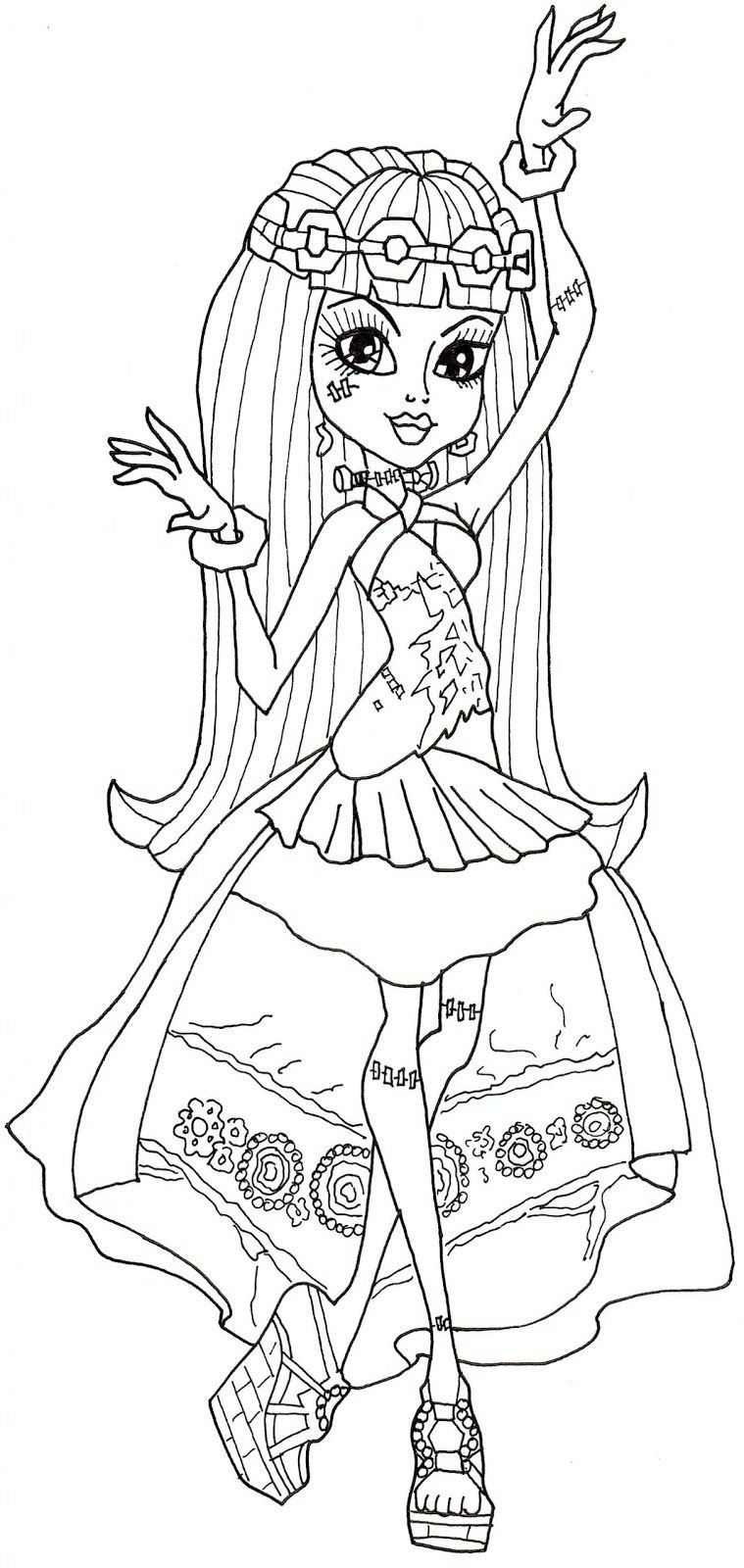 Malvorlagen Monster High Genial Free Printable Monster High Coloring Pages Frankie Stein 13 Wishes Fotos
