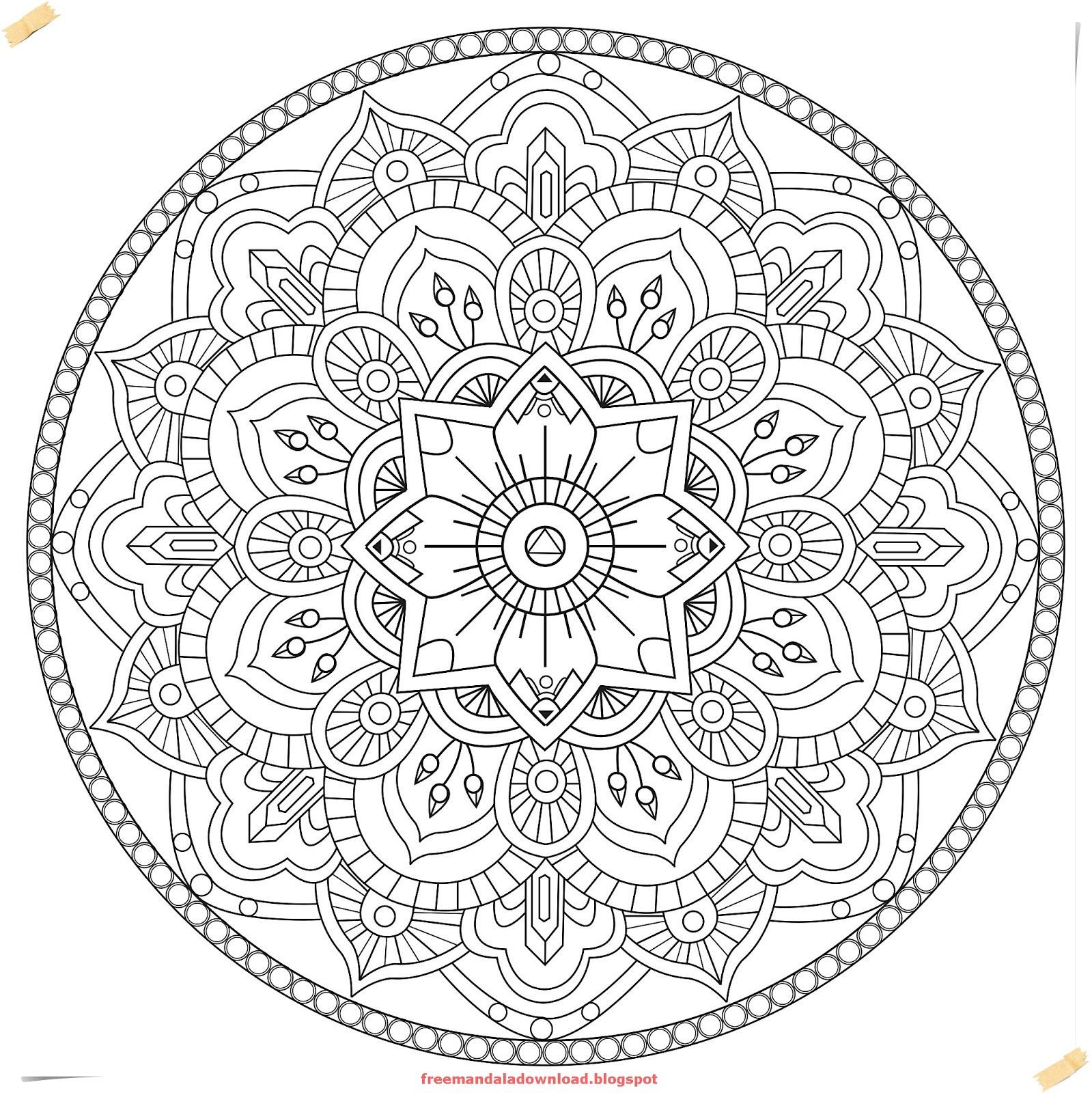 Mandala Zum Ausdrucken Erwachsene Neu Frais Schwere Mandalas Für Erwachsene Zum Ausdrucken – Duschbehalter Fotos