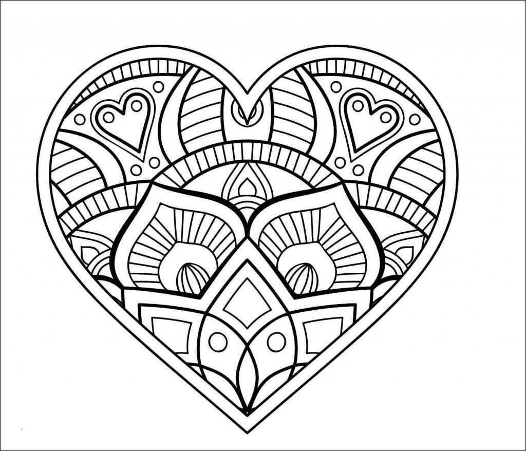 Mandalas Zum Ausdrucken Herzen Neu Herz Malvorlagen Einfach