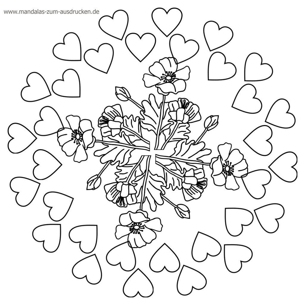 Mandalas Zum Ausdrucken Herzen Frisch Druckbare Malvorlage Ausmalbilder Mandala Beste Druckbare Sammlung
