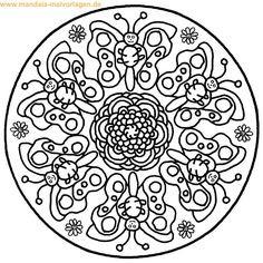 Mandalas Zum Ausmalen Schmetterling Genial 65 Besten Mandalas Ausmalbilder Bilder Auf Pinterest Fotos