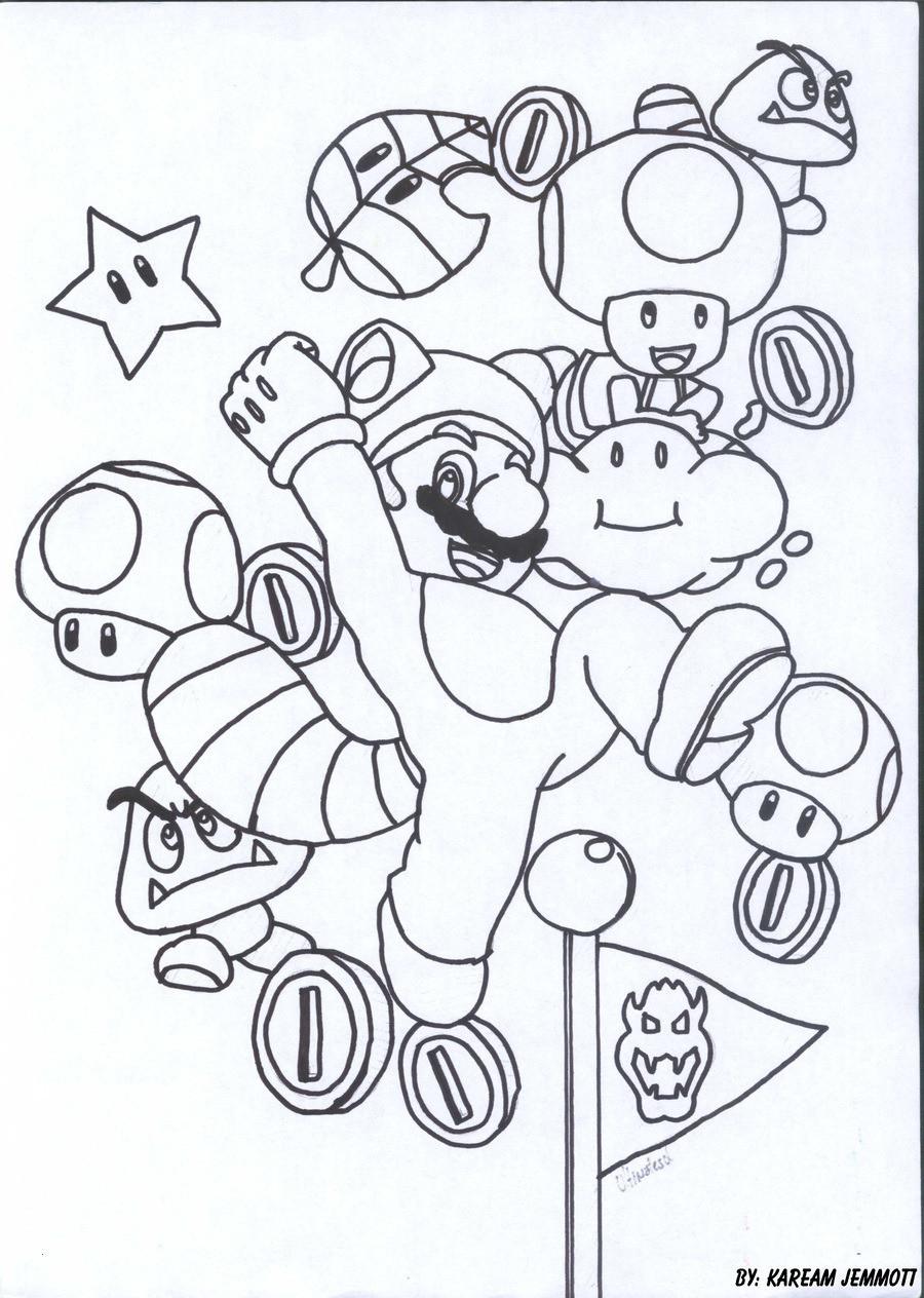Mario Kart Ausmalbild Genial Ausmalbilder Mario Schön Super Mario Coloring Pages Luxury Großzügig Galerie
