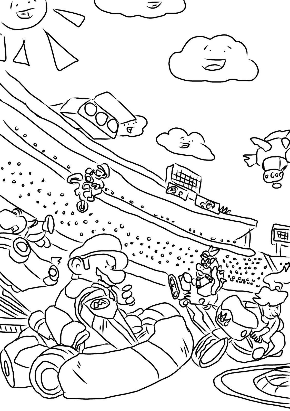 Mario Kart Ausmalbilder Genial 34 Schön Mario Ausmalbilder – Malvorlagen Ideen Galerie