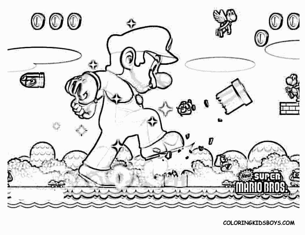 Mario Kart Ausmalbilder Neu Unique Mario Coloring Pages to Print Free Coloring Schön Super Mario Bild