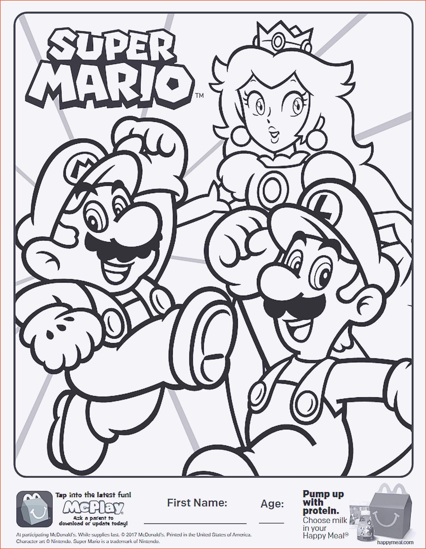 Mario Zum Ausmalen Einzigartig Ausmalbilder Mario Weihnachten Stock