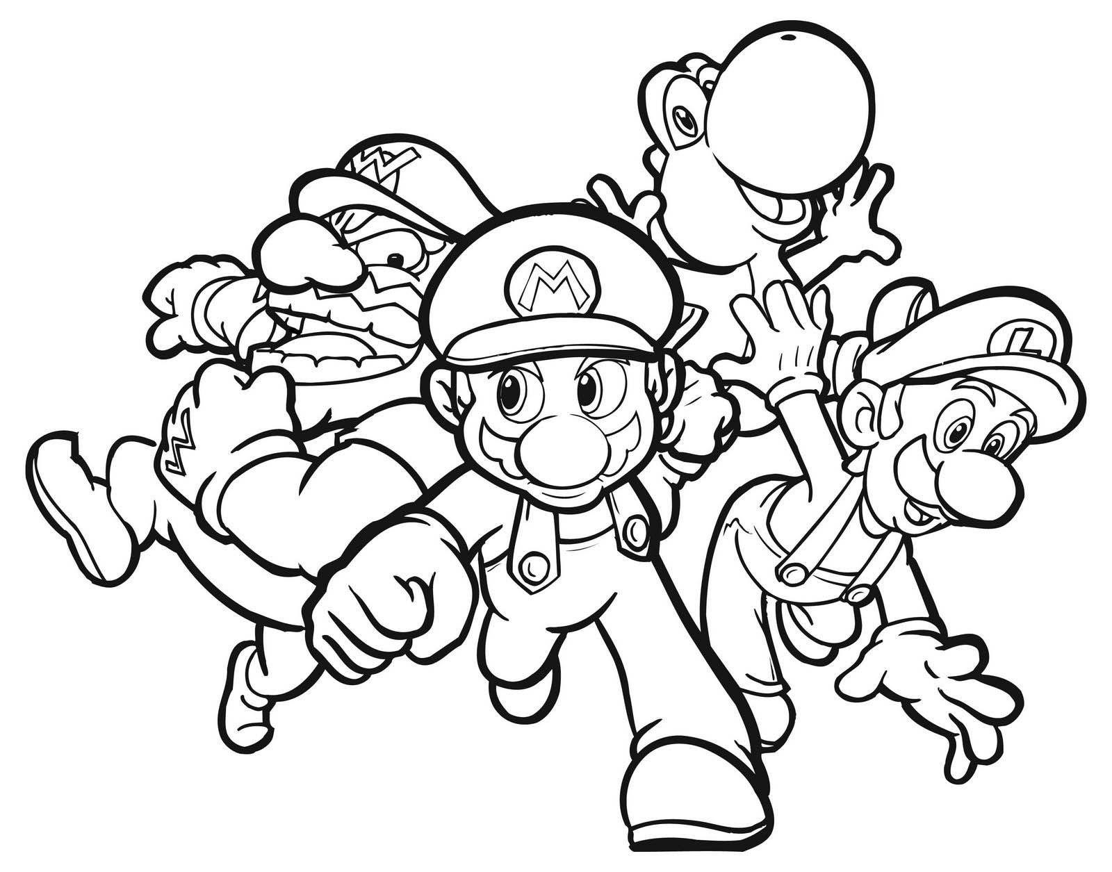 Mario Zum Ausmalen Einzigartig Mario Coloring Pages to Print Free Schön Ausmalbilder Mario Und Bilder