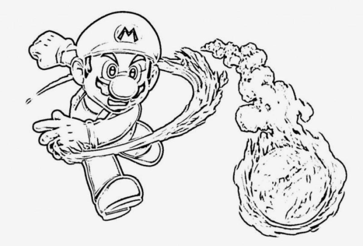 Mario Zum Ausmalen Frisch Beispielbilder Färben Malvorlagen Mario Kostenlos Bilder