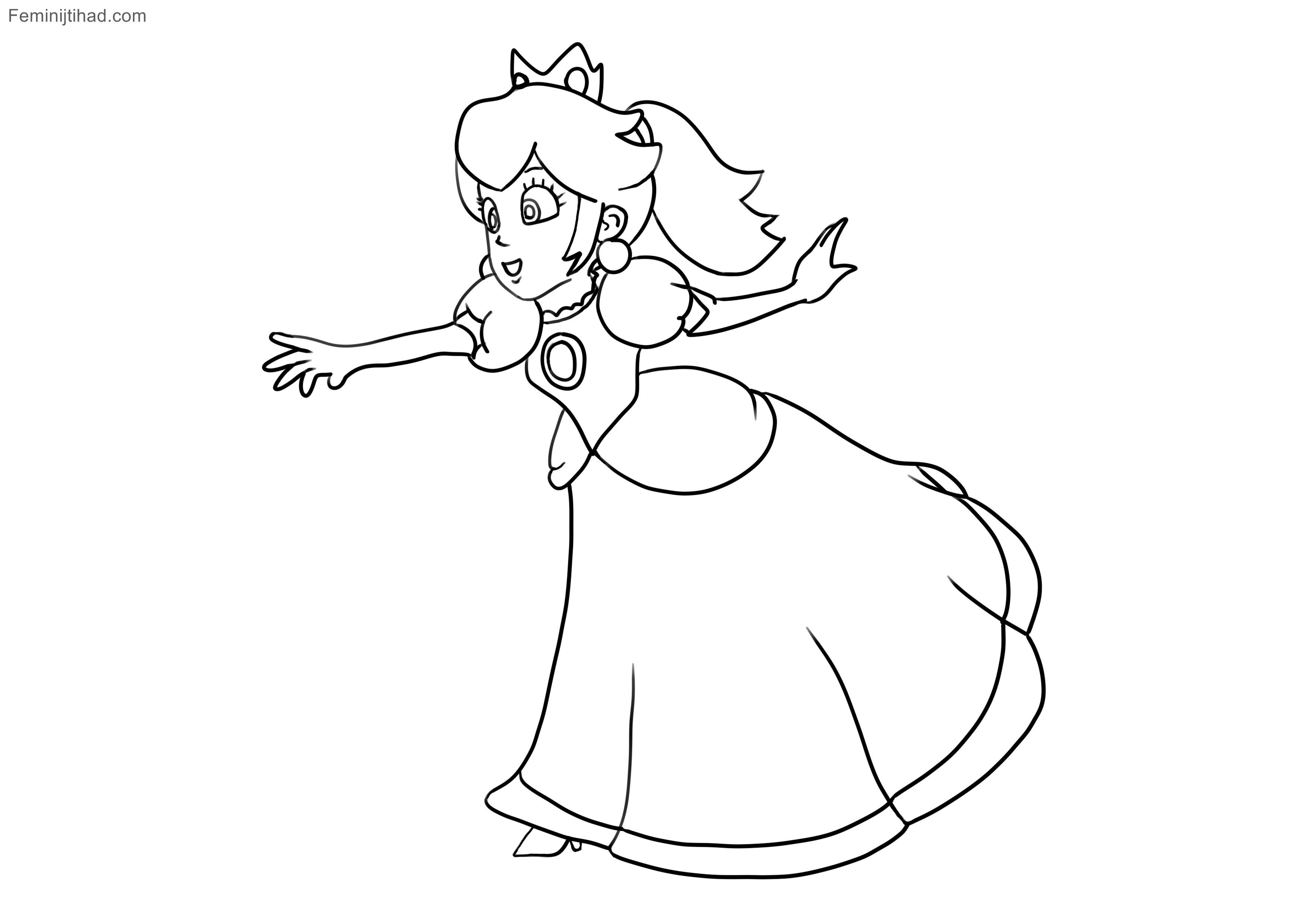 Mario Zum Ausmalen Genial 9 Peach Coloring Page Frisch Super Mario Ausmalbilder Peach Bilder