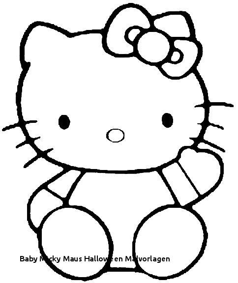 Micky Maus Baby Ausmalbilder Das Beste Von Baby Micky Maus Halloween Malvorlagen Hello Kitty Waving Molde Pra Stock