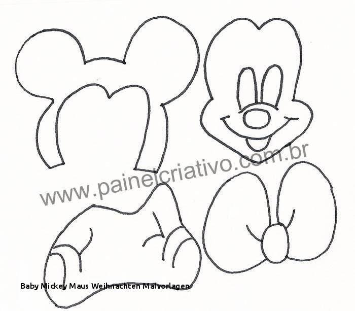 Micky Maus Malvorlage Neu Baby Mickey Maus Weihnachten Malvorlagen Mickey Mouse Face Figure Od Bild